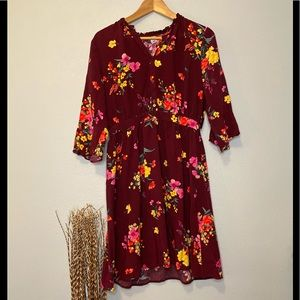 Old Navy | Floral Maroon Blouse